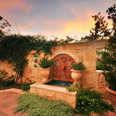 Mediterranean Patio by Rick O'Donnell Architect