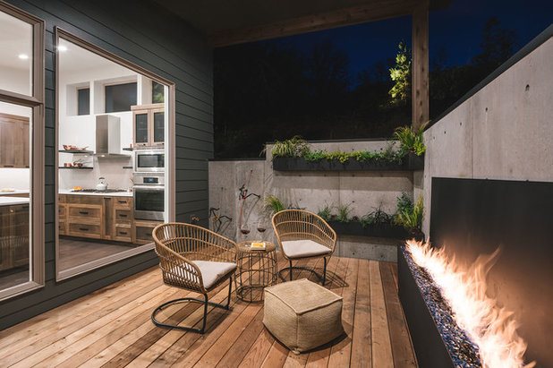 Rustic Patio by Jordan Iverson Signature Homes