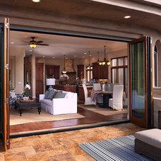 Contemporary Family Room by LaCantina Doors