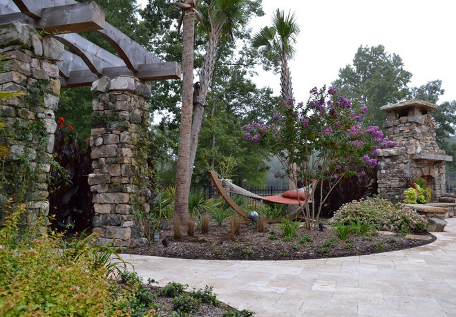 Eclectic Patio by TG&R Landscape Group
