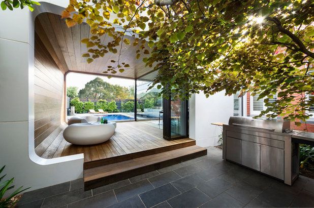 Contemporary Patio by LSA Architects