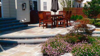 Custom Bluestone Patio Landscape Beds