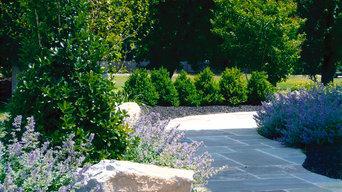 Custom Bluestone Patio Landscape Beds