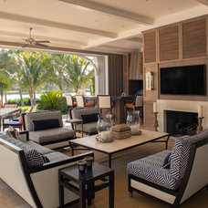 Tropical Patio by AlliKristé Custom Cabinetry and Kitchen Design
