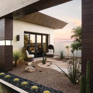 Inspiration for a huge contemporary backyard patio remodel in Las Vegas with no cover