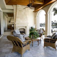 Mediterranean Patio by Addition Building & Design, Inc.