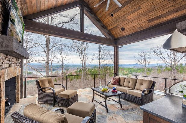 Rustic Patio by Dillard-Jones Builders, LLC