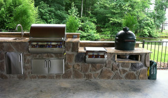 Custom Outdoor Kitchen by Fine's Gas With Fire Magic Grill