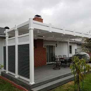 Custom Patio Cover Built In With The Deck