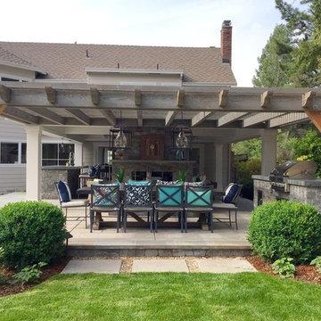 Custom Pendant Lantern for Outdoor Living Space - Installation #7