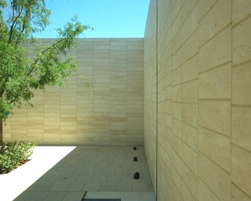Contemporary Courtyard Covering : ... large contemporary courtyard patio in Other with tile and no cover
