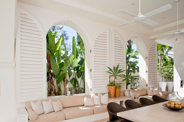 Beach Style Patio by Newport Custom Shutters