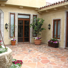 Mediterranean Patio by Gaulhofer Windows