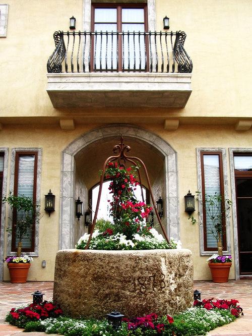 Iron balcony houzz for Mediterranean balcony ideas