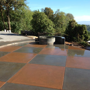 Backyard Stamped Concrete Ideas 75 most popular transitional stamped concrete patio design ideas for