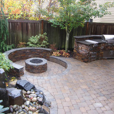 Contemporary Patio by Cyan Landscapes