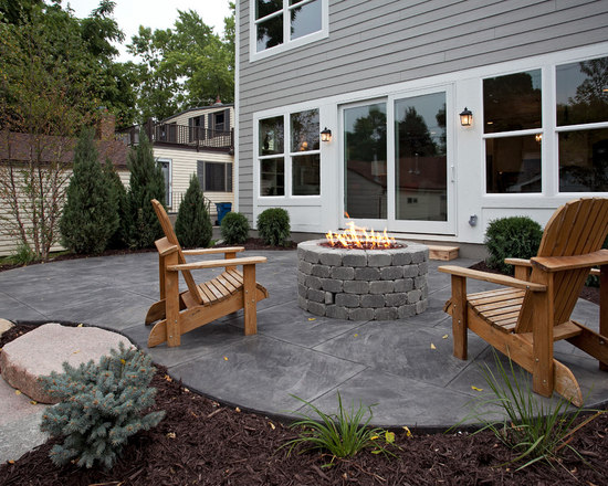 patio design ideas, remodels & photos with stamped concrete | houzz - Concrete Patio Design