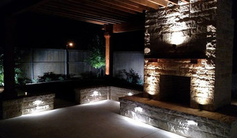 Dallas Landscape Lighting/Outdoor Fireplace and Pegola Project