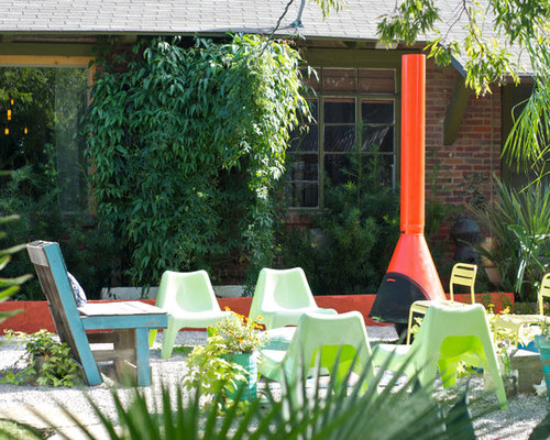 Inspiration For An Eclectic Gravel Patio Remodel In Dallas