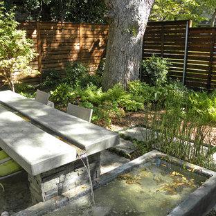 Inspiration for a contemporary patio fountain remodel in Dallas