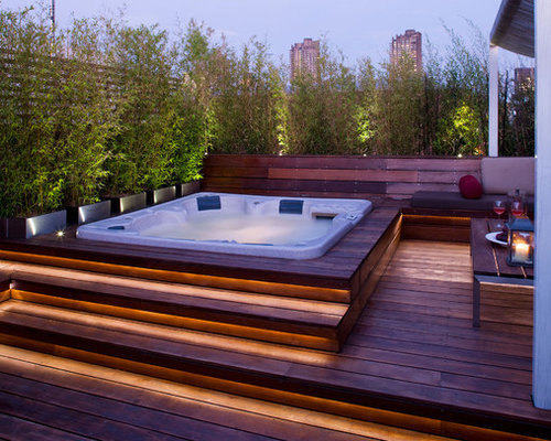 jacuzzi sur terrasse photos et id es d co. Black Bedroom Furniture Sets. Home Design Ideas