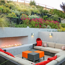Terraced backyard