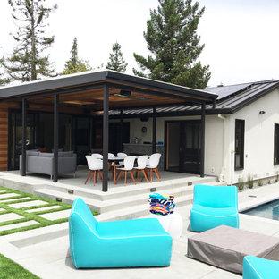 Foto di un patio o portico minimalista