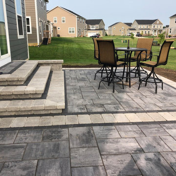 Dazzling custom patio and hardscape backyard design in Delaware, OH