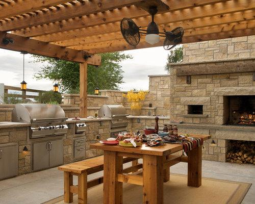 Farmhouse Kansas City Patio Design Ideas Remodels & s