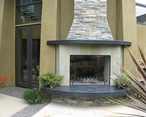 Curved Hearth | Houzz