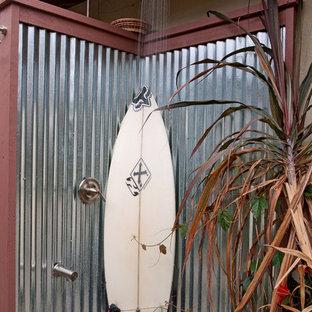 Outdoor patio shower - beach style outdoor patio shower idea in San Diego