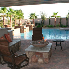 Traditional Patio by Green Planet Landscaping Pools & Spa