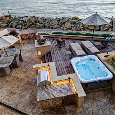 Beach Style Deck by Marc Perry Architect, Inc.