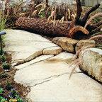 Courtyard Tropical Patio Orange County By Flea