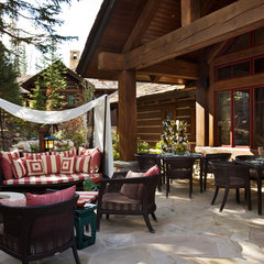 traditional patio by Harte Brownlee & Associates Interior Design