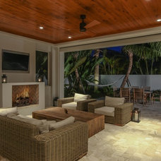 Tropical Patio by Marc Julien Homes LLC
