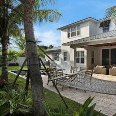 Tropical Patio by Marc Julien Homes LLC