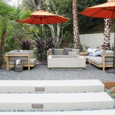 Modern Patio by debora carl landscape design