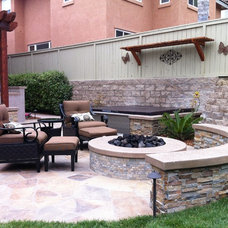Mediterranean Patio by Landscape Logic