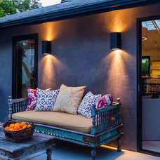 Eclectic Patio by Lori Smyth Design