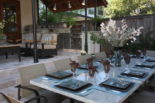 Transitional Patio by Dena Brody Interiors