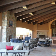 Traditional Patio by Visionmakers Custom Stone & Iron Doors