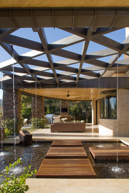Contemporary Patio by Pinnacle Architectural Studio