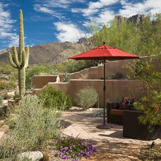 Southwestern Patio by Landscape Design West, LLC
