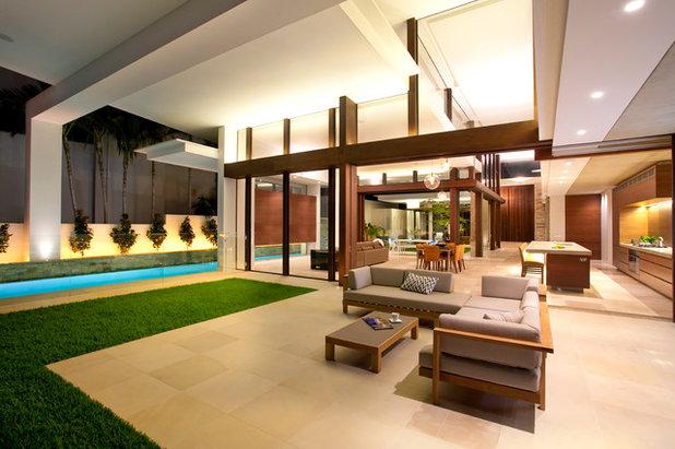 Contemporary Patio by Building Designers Association of Queensland