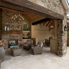 Traditional Patio by WPL Interior Design
