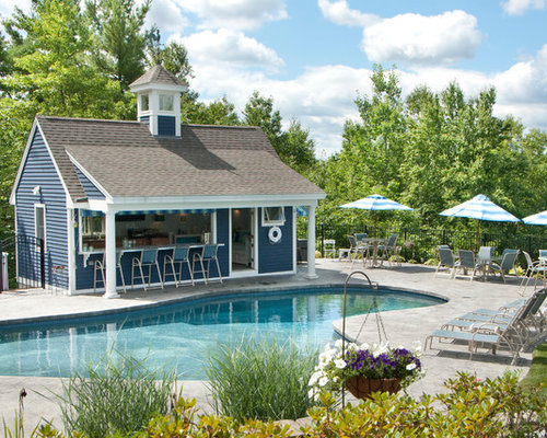 pool house bar. Inspiration For A Large Timeless Backyard Stone Patio Kitchen Remodel In Manchester With Gazebo Pool House Bar L