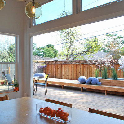 Example of a trendy patio design in San Francisco with decking