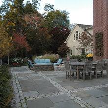 combination brick/paver patios