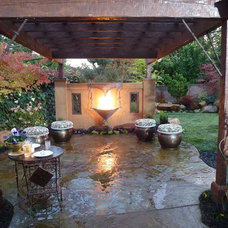 Eclectic Patio by Bushnell Gardens & Landscape